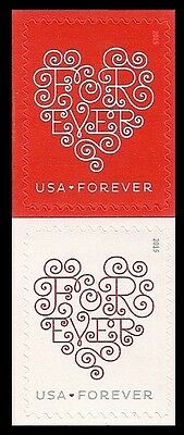 US 4955-4956 4956a Love Forever Hearts forever vert pair set MNH 2015