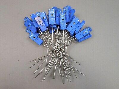 "Lot of 35 Omega Mini Type - T 6"" Probe Thermocouples Probes with Connectors"
