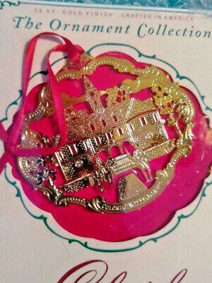 Colonial Williamsburg 24k Gold Finish The Capitol Building Christmas Ornament