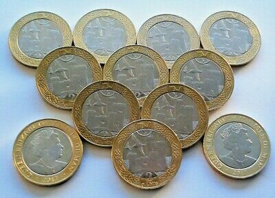 """1 x 2017 ISLE OF MAN """"TOWER OF REFUGE"""" TWO POUNDS £2 COIN - IoM MANX TOWER MINT"""