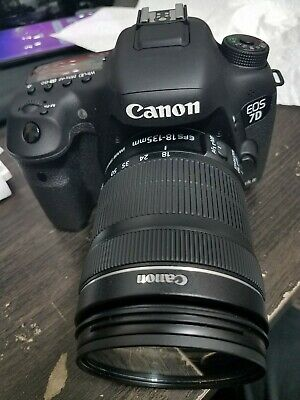 Canon EOS 7D Mark II Digital SLR Camera with 18-135mm Lens charger bag rare