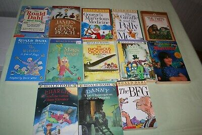 Roald Dahl Lot of 13 books, Matilda, Charlie and the Chocilat Factory, the BFG +