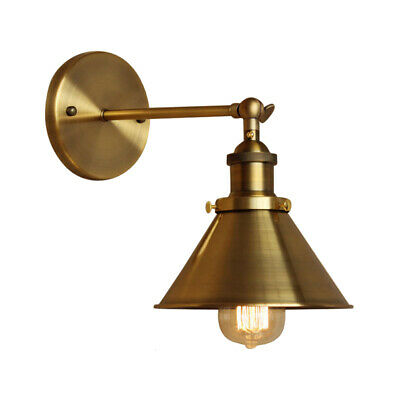 Antique Adjustable Cone Shade Wall Sconce Industrial Wall Lamp Lighting Fixture