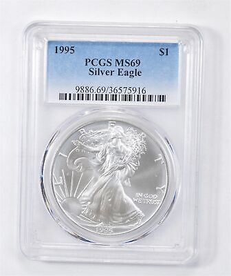 1995 American Silver Eagle MS-69 1 Troy Oz PCGS Graded *547