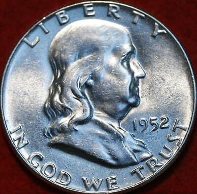 Uncirculated 1952 Philadelphia Mint Silver Franklin Half