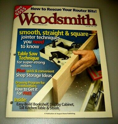 Woodsmith Magazine Table Saw Technique Vol 28 Issue 167