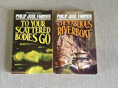 TWO SCI FI paperbacks RIVERWORLD SERIES VOL 1  and 2