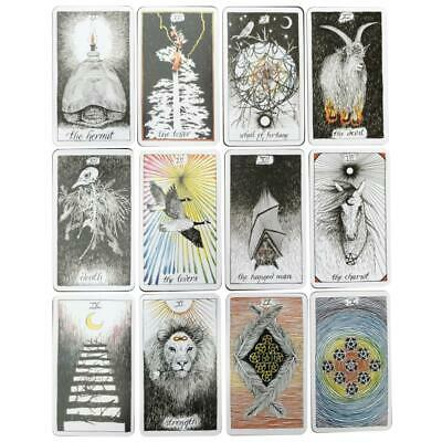 78Pcs Porcelain Tarot Card Desktop Game Divination Magic Toy
