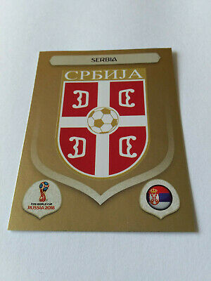 Panini Wc Coupe Du Monde Russie 2018 N°412 Ecusson Serbie Brillante Gold Shiny