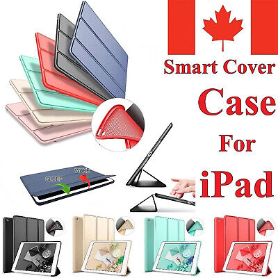 Stand Case Smart Silicone Ultra Slim Soft TPU Back Cover For All iPad Air Mini