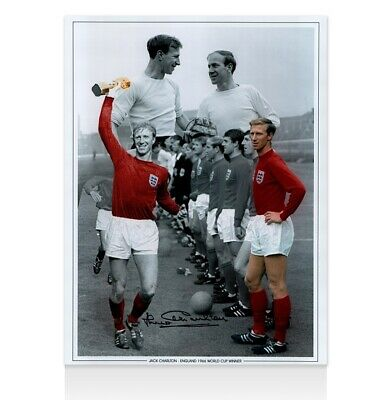 Jack Charlton Signed Photo - England World Cup Winner Montage Autograph