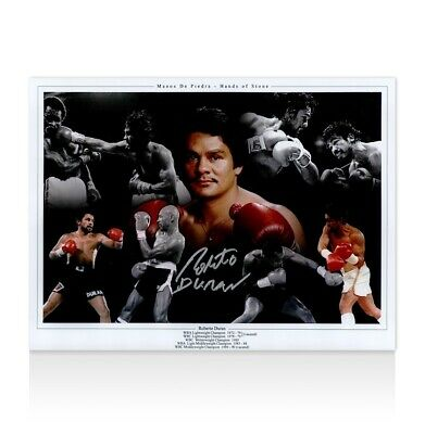 Roberto Duran Signed Photo - Hands Of Stone Autograph