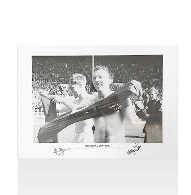 Alan Ball & Nobby Stiles Signed Photo - 1966 World Cup Final Autograph
