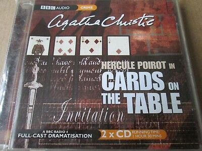 POIROT CARDS ON The Table: BBC Radio 4 Full-cast Drama (Audio Book) NEW  SEALED
