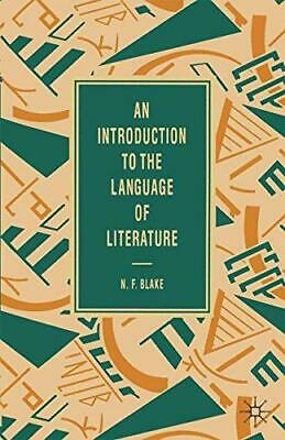 An Introduction to the Language of Literature, , Good Condition Book, ISBN 03334