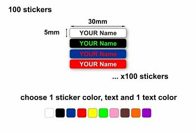 Oz Labels Stickers for Kids Tiny Size Pencil Name Labels