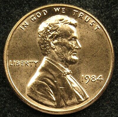 1984 Uncirculated Lincoln Memorial Cent Penny (B01)
