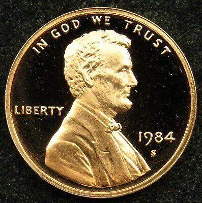 1984 S Deep Cameo Proof Lincoln Memorial Cent Penny (B01)