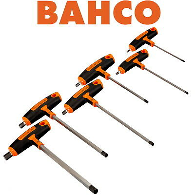 Bahco Professional 6 Piece T-Handle Hexagon Allen Key Wrench Set, 3Mm-10Mm, 903T