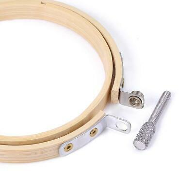 10X Handcraft DIY Embroidery Circle Bamboo Hoops Cross Hoop Ring Support Aid A++