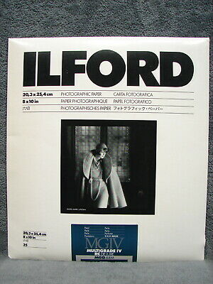 "Ilford 25 Sheets Photo Paper 8"" x 10"" MGIV Multigrade IV Pearl RC Deluxe MGD.44M"