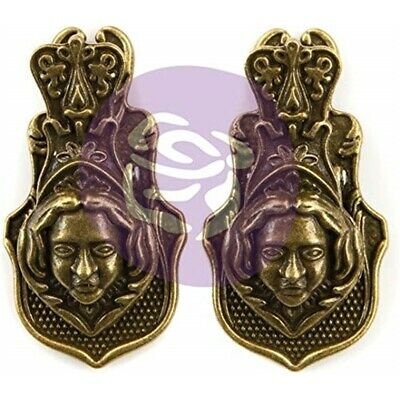 Prima Art Daily Planner Metal Clips 2/pkg-victorian Face