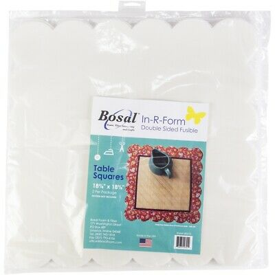 """Bosal In-r-form Double-sided Fusible Table Squares-18.375""""x18.375"""" 2/pkg"""