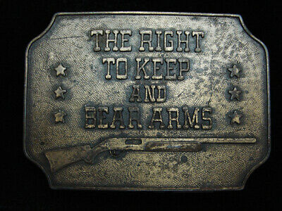 PL13132 VINTAGE 1970s **THE RIGHT TO KEEP AND BEAR ARMS** 2ND AMENDMENT BUCKLE