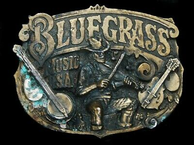 Nf09114 Vintage 1982 **Bluegrass Music Usa** Great American Belt Buckle