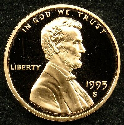 1995 S Deep Cameo Proof Lincoln Memorial Cent Penny (B04)