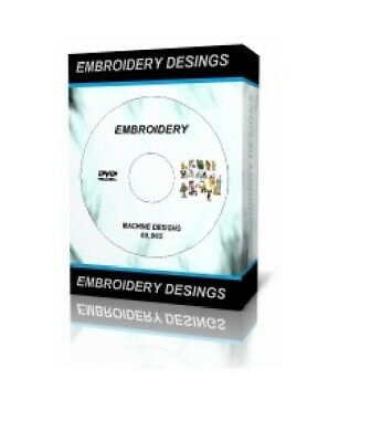 69,965 Embroidery Designs DVD - Brother Machine PES HUS Disney Pooh Cats Dogs