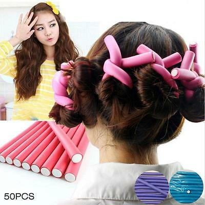 50X Curl DIY Hair Curlers Tool Styling Rollers PXiral Circle Magic Roller Tool &