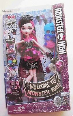 Welcome To Monster High DRACULAURA Doll Set WITH MASKS Deluxe NEW In Box 2016