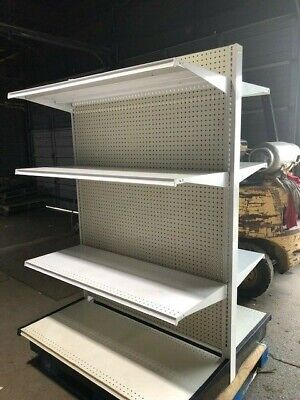 GONDOLA SHELVING Used Retail Store Metal Fixtures Island Shelves Grocery Market