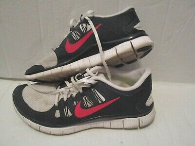 online store f7399 af68a Nike Free 5.0 Men s Running Training Shoes Sneakers White Red Blue Size 11  Used
