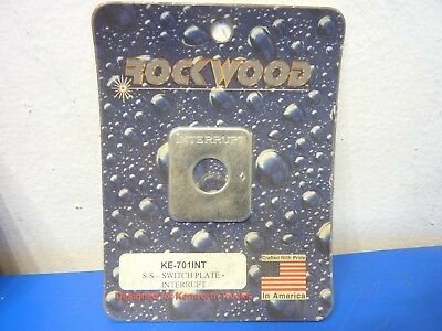 Rockwood KE-701INT,Stainless Steel Switch Plate Interrupt Emblem,NEW