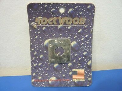 Rockwood KE-701SL,Stainless Steel Switch Plate Spot Light Emblem,NEW