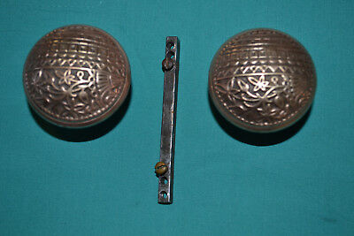 One Set Of Brass Door Knobs East Lake, Antique Vintage Architectural  ????