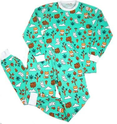 IMPROVED Adult size PJ's  Little forest baby animals print autistic