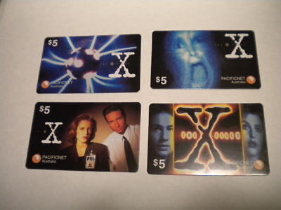 X-Files TV show rare Australian limited issue phonecards set 1990