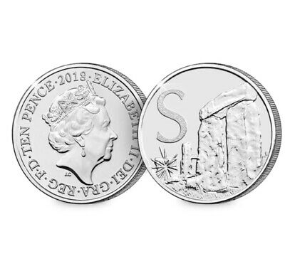 A-Z (2019) ALPHABET 10p - LETTER (S) FOR STONEHENGE  UNCIRCULATED