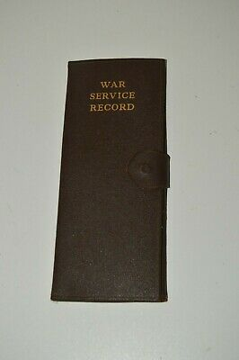 Vintage WWII War Service Record Discharge Paper Photo Ribbon Holder Case Wallet