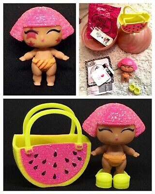 LOL Surprise Doll Lil Glitter Queen Series2 Gold Ball Lil Sis Complete Authentic