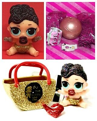 LOL Surprise Doll Lil The Queen Series2 Gold Ball Lil Sis Complete Authentic NEW