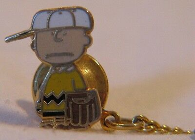 Vintage Rare United Features Charlie Brown Baseball Tie Tack Tac Pin