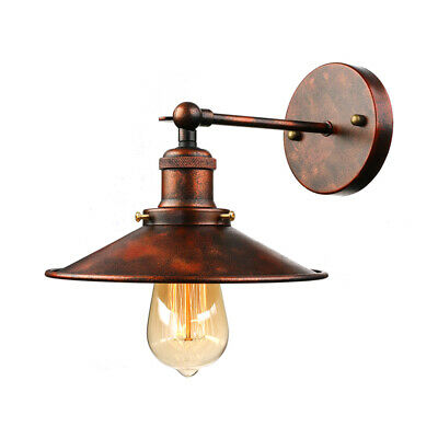 Farmhouse Rustic Copper Wall Light Vintage Loft Wall Sconce Lamp Metal Shade