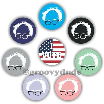 "8 Bernie Sanders 2020 For President 1"" Political Campaign Pin Pinback Button Lot"
