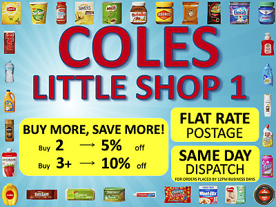 Coles Little Shop 1 Mini Collectables   FREE Postage   SAME DAY Dispatch