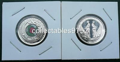 New Zealand 2015 & 2018 Coloured 50 Cent Coins - ANZAC & Armistice. Low Mint !1!