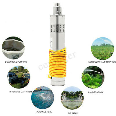 AU 24V 864W 3m³/H 120M Head Solar Submersible Water Pump Brushless Metal Steel
